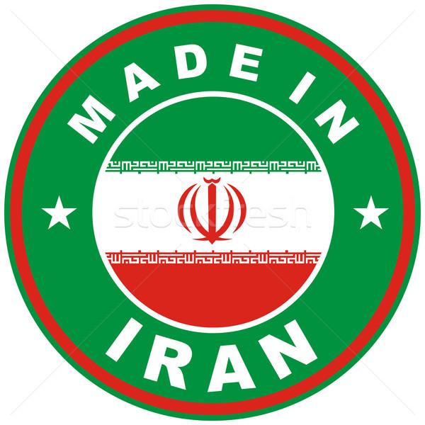 Irã grande tamanho país etiqueta assinar Foto stock © tony4urban