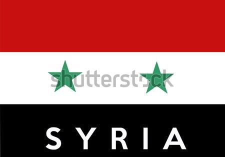 Vlag Syrië groot maat illustratie land Stockfoto © tony4urban