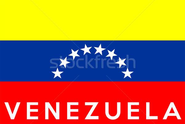Zászló Venezuela nagy méret illusztráció vidék Stock fotó © tony4urban