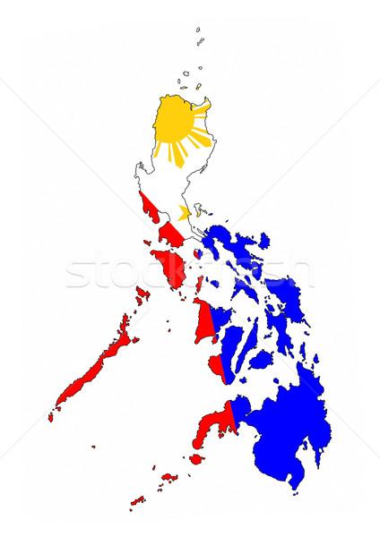 Philippines pavillon carte pays forme Photo stock © tony4urban