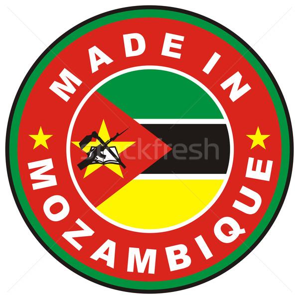 Moçambique grande tamanho país etiqueta assinar Foto stock © tony4urban