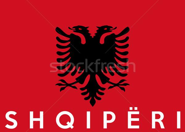 flag of albania Stock photo © tony4urban