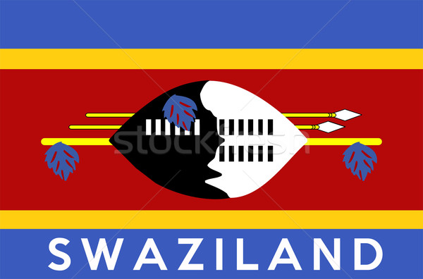 flag of Swaziland Stock photo © tony4urban