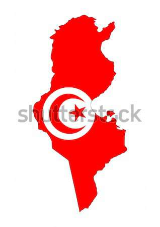 Тунис флаг карта стране форма Сток-фото © tony4urban