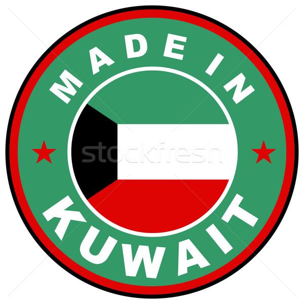 Kuwait grande dimensioni paese etichetta segno Foto d'archivio © tony4urban