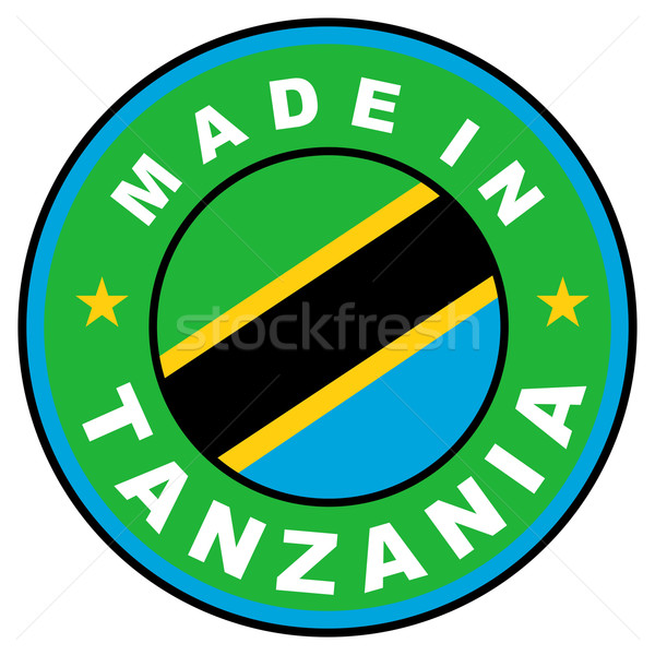 Tanzanya büyük boyut etiket bayrak ülke Stok fotoğraf © tony4urban