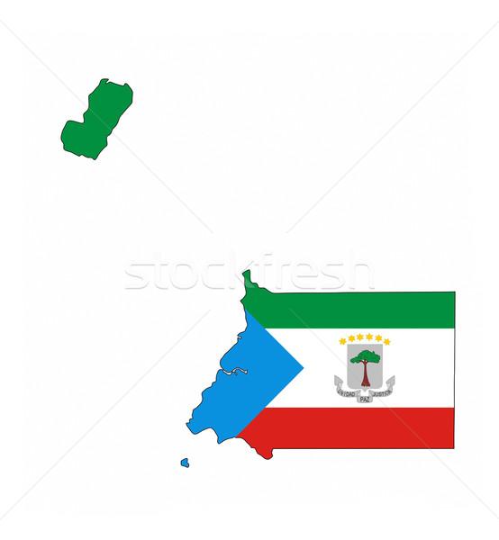 Ekvator Ginesi bayrak harita ülke biçim Stok fotoğraf © tony4urban