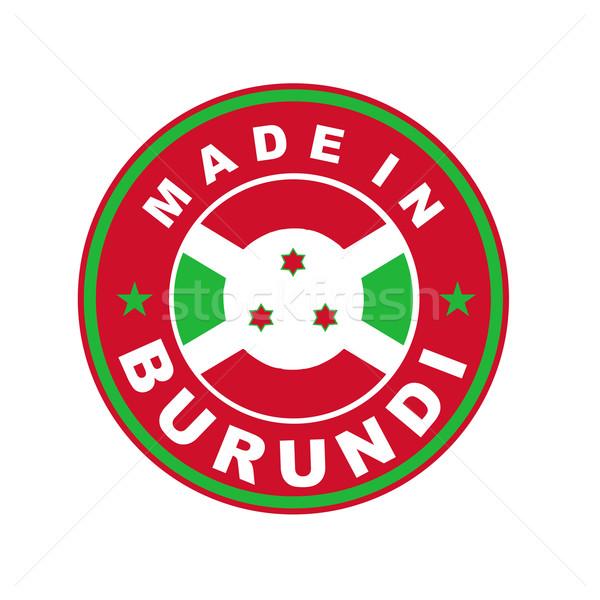 Burundi grande tamanho país etiqueta Foto stock © tony4urban