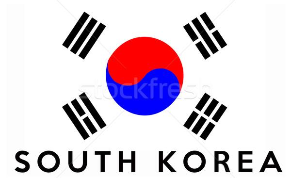 flag of South Korea Stock photo © tony4urban