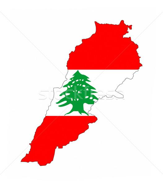 Libanon zászló térkép vidék forma Stock fotó © tony4urban