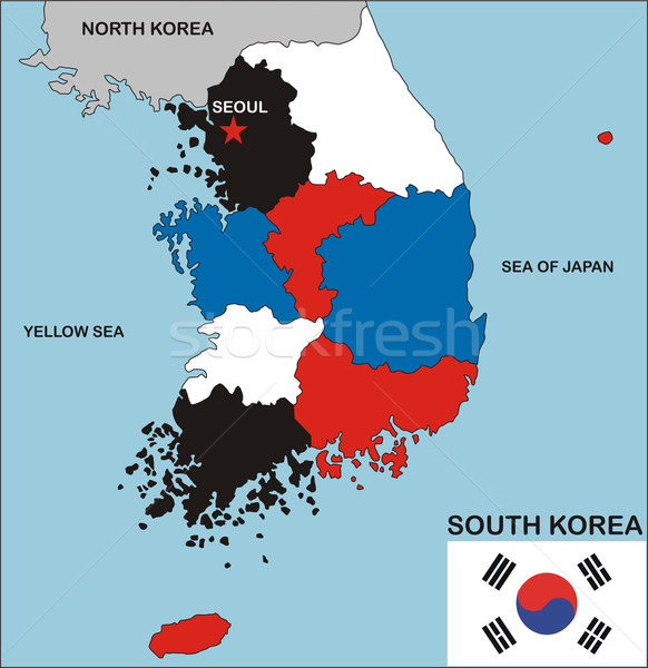 south korea map Stock photo © tony4urban