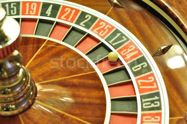 Rulettkerék kép kaszinó labda szám Stock fotó © tony4urban