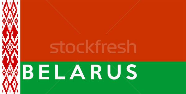 Vlag Wit-Rusland groot maat illustratie land Stockfoto © tony4urban