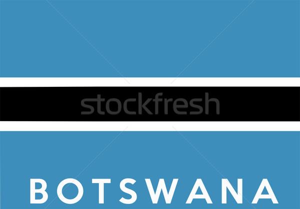 флаг Ботсвана большой размер иллюстрация стране Сток-фото © tony4urban