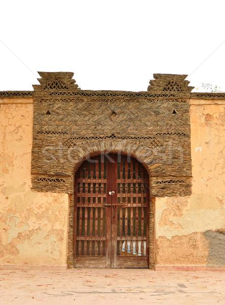 Park ajtó város Marokkó 1960 földrengés Stock fotó © tony4urban