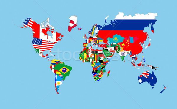 世界 フラグ 地図 国 シンボル ストックフォト © tony4urban