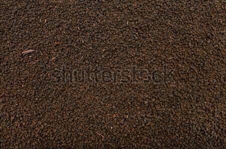 Negro té textura secar hoja patrón Foto stock © tony4urban