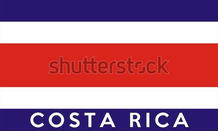Zászló Costa Rica nagy méret illusztráció vidék Stock fotó © tony4urban