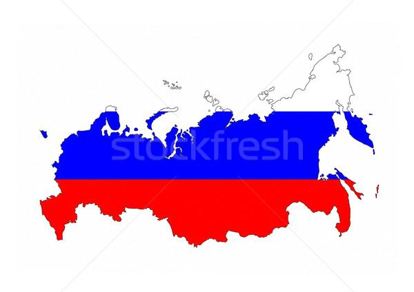 ロシア フラグ 地図 国 ストックフォト © tony4urban