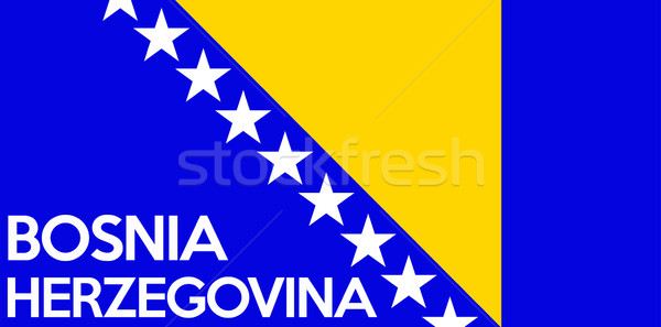 flag of bosnia herzegovina Stock photo © tony4urban
