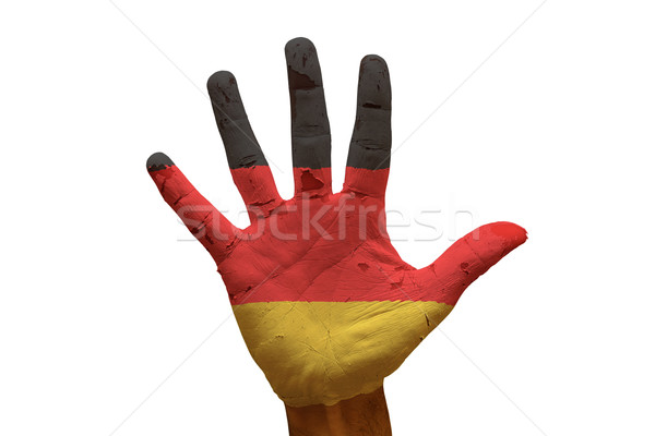 Palma bandera Alemania hombre mano pintado Foto stock © tony4urban