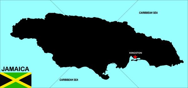 Jamaica mapa grande tamaño político ilustración Foto stock © tony4urban