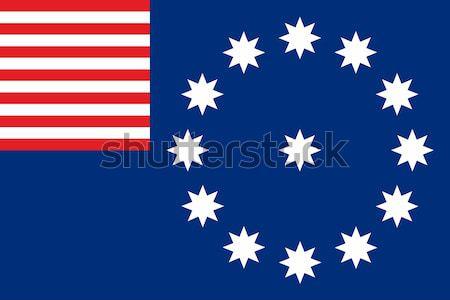 Stad vlag Verenigde Staten amerika land Stockfoto © tony4urban