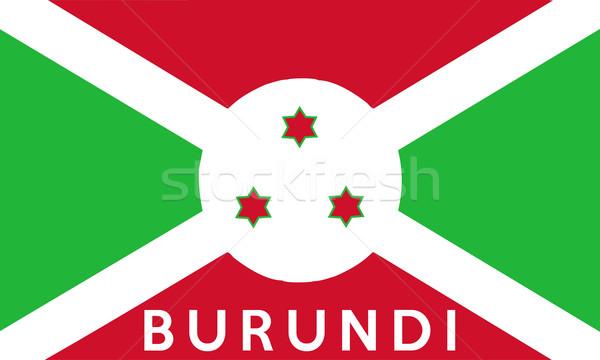 Bandeira Burundi grande tamanho ilustração país Foto stock © tony4urban