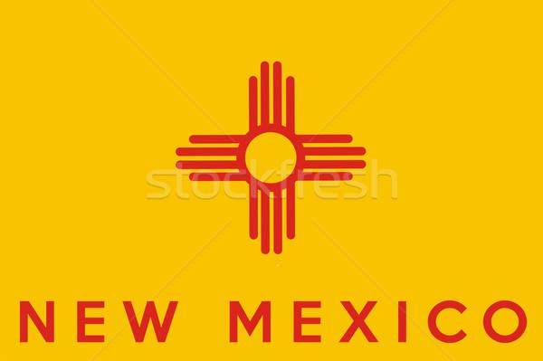 Нью-Мексико флаг большой иллюстрация США новых Сток-фото © tony4urban