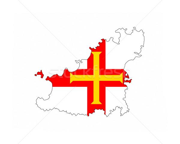 Bandera mapa país forma Foto stock © tony4urban