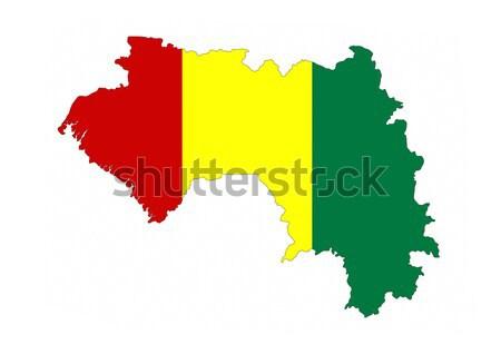 Гвинея флаг карта стране форма Сток-фото © tony4urban