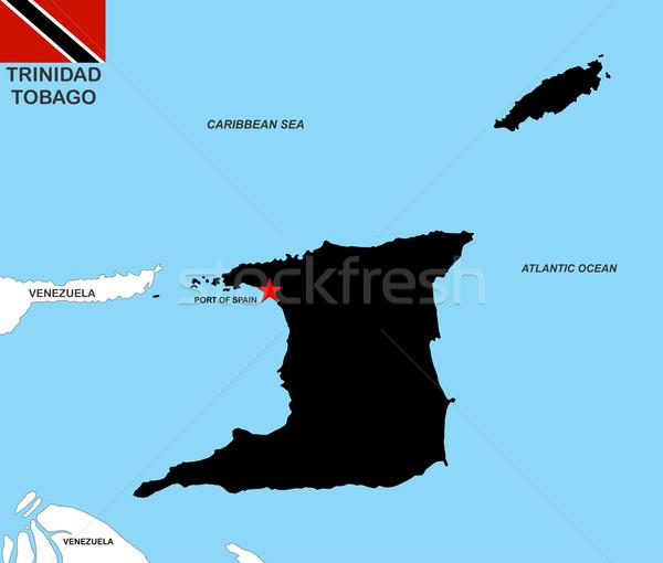 trinidad tobago map Stock photo © tony4urban