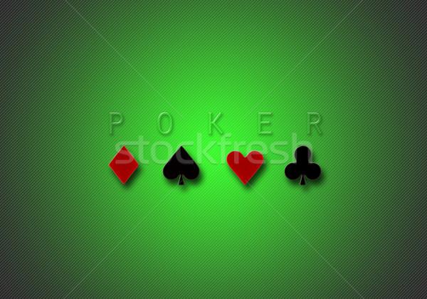 poker background gradient Stock photo © tony4urban