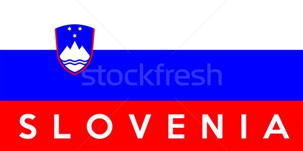 флаг Словения большой размер иллюстрация стране Сток-фото © tony4urban