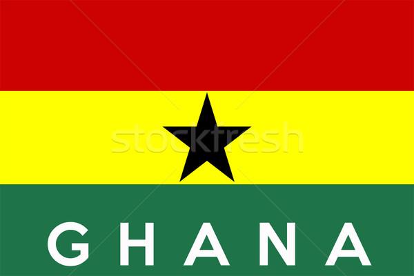 флаг Гана большой размер иллюстрация стране Сток-фото © tony4urban