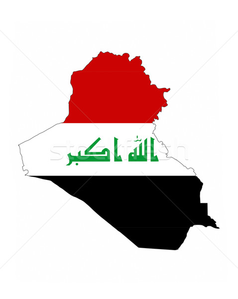 Stock fotó: Irak · zászló · térkép · vidék · forma