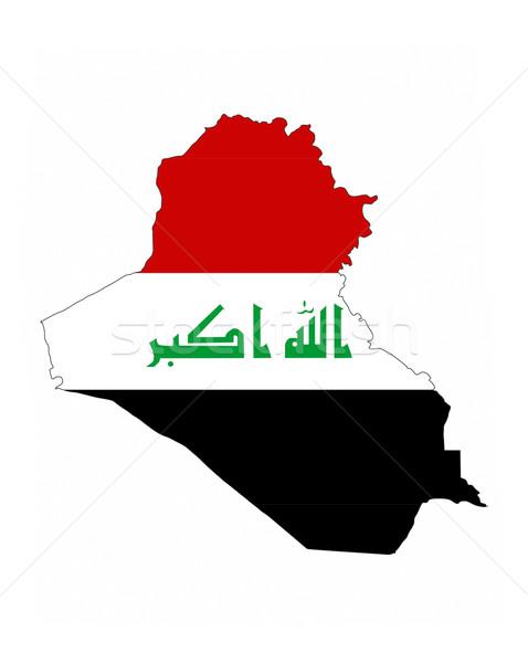 iraq flag map Stock photo © tony4urban