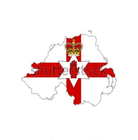 Grúzia zászló térkép vidék forma Stock fotó © tony4urban