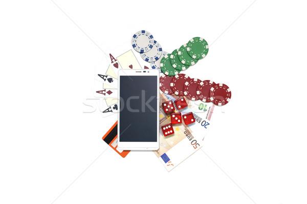スマートフォン ギャンブル スマートフォン カジノ ポーカー ユーロ ストックフォト © tony4urban