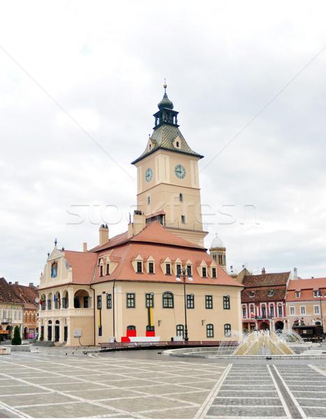 Történelem múzeum város Romania tájékozódási pont építészet Stock fotó © tony4urban