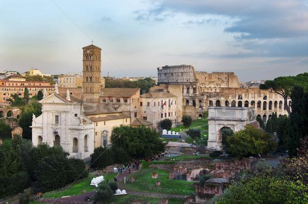 римской руин Рим город Италия древних Сток-фото © tony4urban