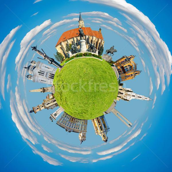 Minuscolo pianeta città Foto d'archivio © tony4urban