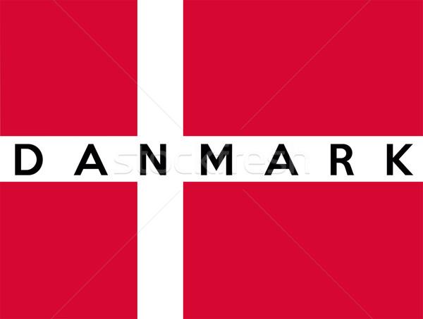 флаг Дания большой размер иллюстрация стране Сток-фото © tony4urban