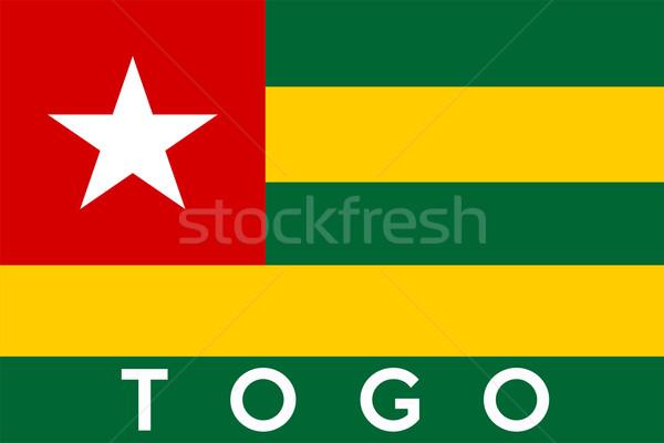 Banderą Togo duży rozmiar ilustracja kraju Zdjęcia stock © tony4urban