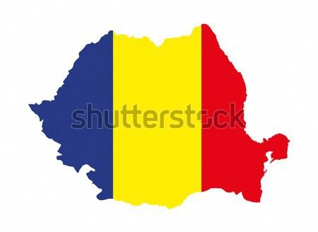 ルーマニア フラグ 地図 国 ストックフォト © tony4urban