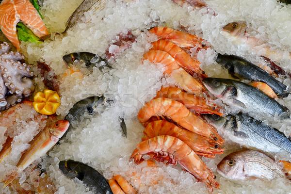 海 食品 市場 新鮮な 氷 表示 ストックフォト © tony4urban
