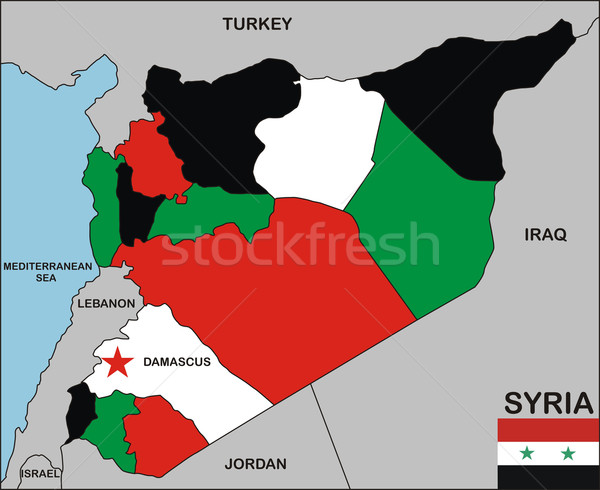syria map Stock photo © tony4urban