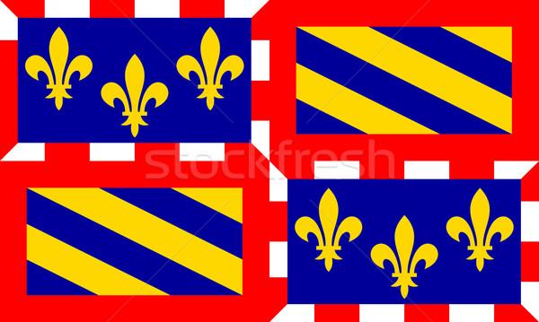Bourgogne flag Stock photo © tony4urban