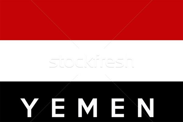 Vlag Jemen groot maat illustratie land Stockfoto © tony4urban