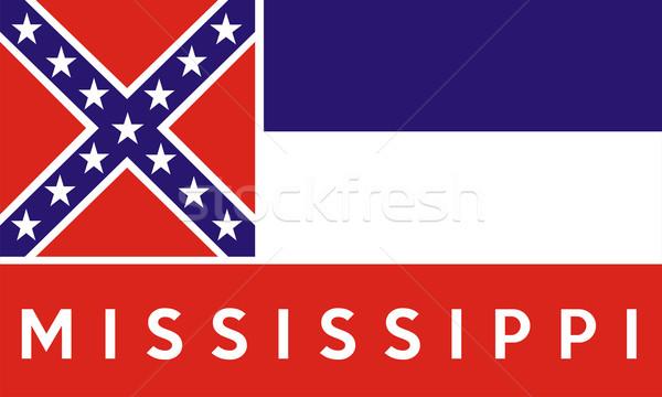 Mississipi bayrak büyük örnek ABD afiş Stok fotoğraf © tony4urban